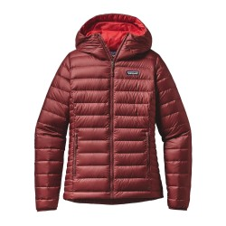 Down Sweater Hoody, drumfire red / Damen
