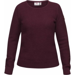 Övik Structure Sweater Wm, dark garnet / Damen