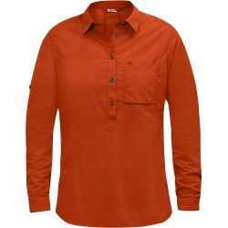High Coast Shirt LS, flame orange / Damen