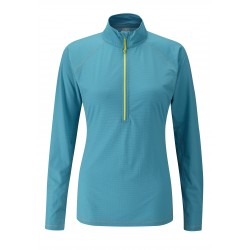 Interval L/S Zip Tee, royale / Damen