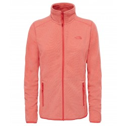 100 Glacier Full Zip Jacket, cayenne red stripe / Damen