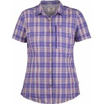 Abisko Hike Shirt S/S checked, purple / Damen