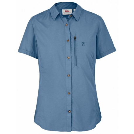 Abisko Hike Shirt S/S uni, blue ridge / Damen