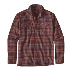 Fjord Flannel L/S Shirt, salty flats dark ruby