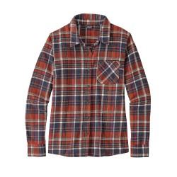 Heywood Flannel Shirt, cascade plaid smolder blue / Damen