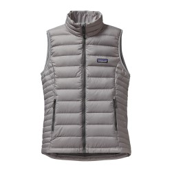 Down Sweater Vest, feather grey / Damen