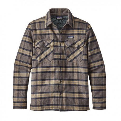 Insulated Fjord Flannel Jacket, migration plaid forge grey