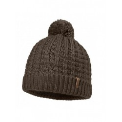Dublin Knitted Hat, rugged brown