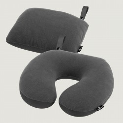 2-in-1 Travel Pillow, ebony
