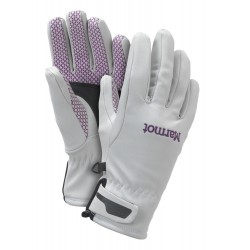 Glide Softshell Glove Wm, glacier grey / Damen
