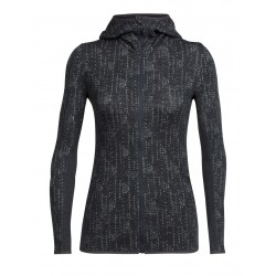 Away L/S Zip Hood, showers jet heather / Damen