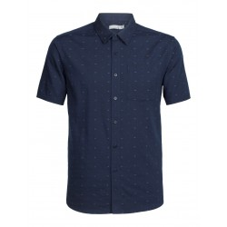 Compass S/S Shirt, dobby midnight navy