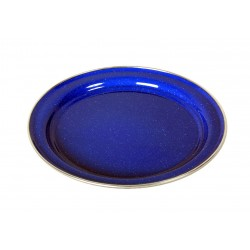 Emaille Teller, flach 26cm, blau