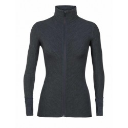 Descender L/S Zip, jet heather / Damen