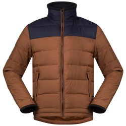 Oslo Down Light Jacket, dark copper melange
