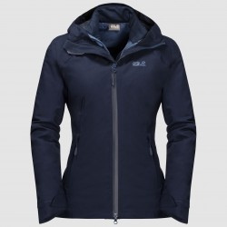 Aurora Sky 3in1 Jacket, midnight blue / Damen