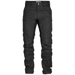 Abisko Lite Trekking Z/O Trousers, dark grey/black