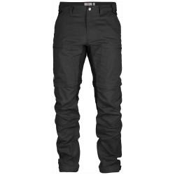 Abisko Lite Trekking Z/O Trousers, dark grey/black