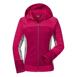 Fleece Hoody Trentino L, beet red / Damen
