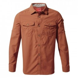 NosiLife Adventure L/S Shirt, burnt whisky