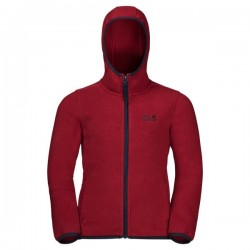 Kids Baksmalla Hooded Jacket, dark lacquer red