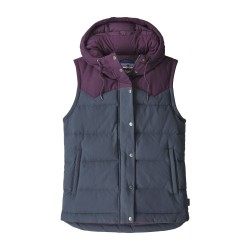 Bivy Hooded Vest, smolder blue deep plum / Damen