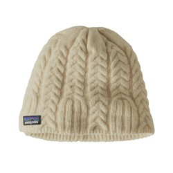 Cable Beanie, birch white / Damen