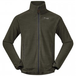Hareid Fleece Jacket NoHood, seaweed melange