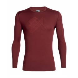 BF200 Oasis L/S Crewe Snap Head, cabernet