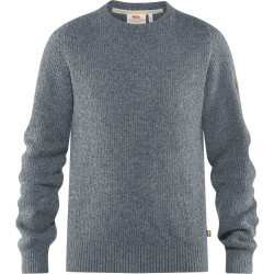 Greenland Re-Wool-Crew-Neck, thunder grey