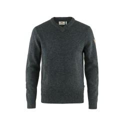 Övik V-Neck Sweater, dark grey