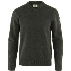 Övik V-Neck Sweater, dark olive