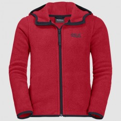 Kids Baksmalla Hooded Jacket, red lacquer
