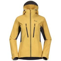 Cecilie Mountain Softshell Jacket, light golden yellow / Damen