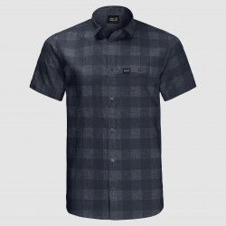 Highlands Shirt, night blue checks
