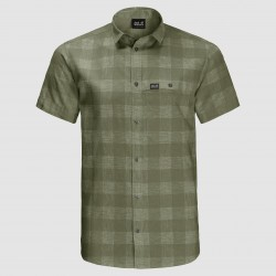Highlands Shirt, light moss checks