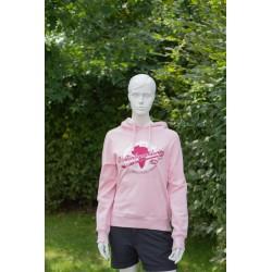 Weltenbummler Retro Hoody, light pink / Damen
