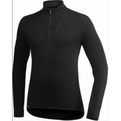 Woolpower Unterhemd Polo 200, schwarz / Herren