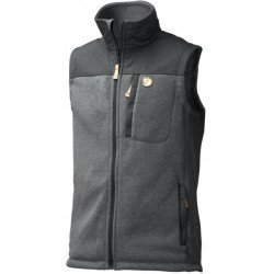 Buck Fleece Vest, graphite / Herren
