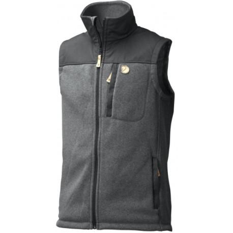 Buck Fleece Vest, graphite / Herren