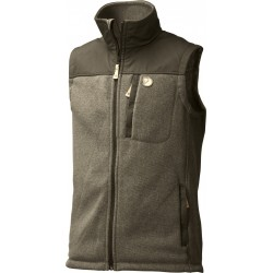 Buck Fleece Vest, dark olive / Herren