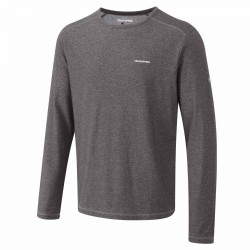 NosiLife L/S Base T, black pepper marl / Herren