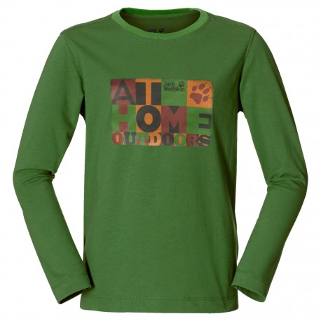 Kids At Home Longsleeve, ivy green