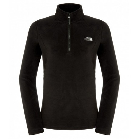100 Glacier 1/4 Zip Wm, tnf black / Damen
