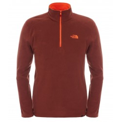 100 Glacier 1/4 Zip, sequoia red / Herren
