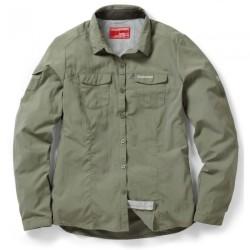 NosiLife Adventure L/S Shirt, soft moss / Damen