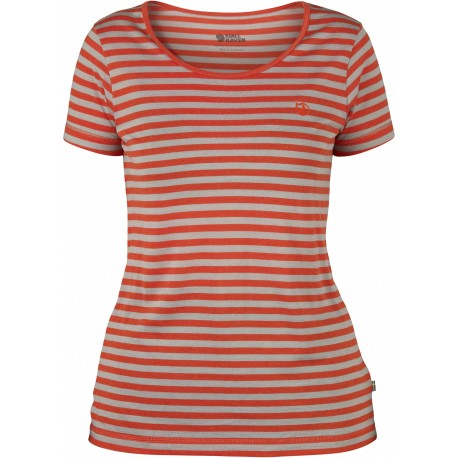 High Coast Stripe T-Shirt, flame orange / Damen